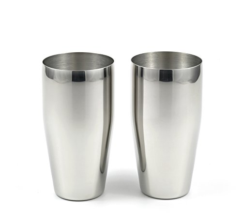 StainlessLUX 77366 2-piece Brilliant Stainless Steel Tumblers / (24 Oz) Drinking Glass Set - Quality StainlessLUX Drinkware for Your Enjoyment by StainlessLUX