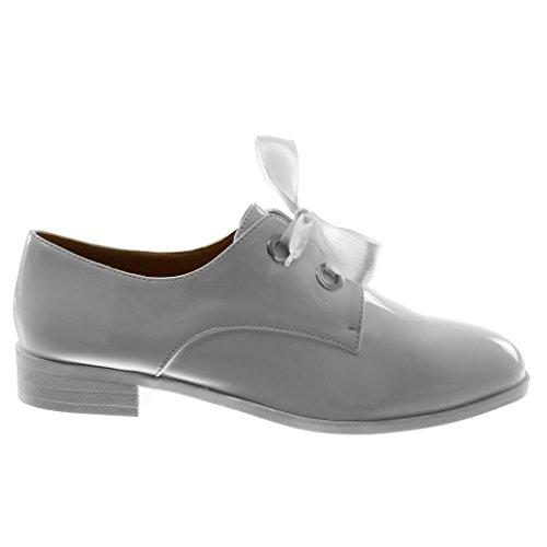 Heel De White Shoe Derby Schoenen Patent Wide Angkorly Woman Codons Cm Fashion Saten 5 2 6YxqIwz