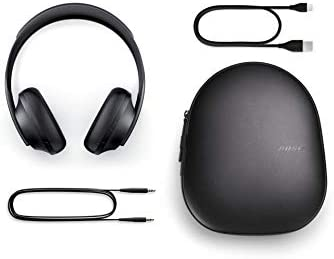Bose Noise Cancelling Headphones 700 — Over Ear, Wireless Bluetooth Headphones with Built-In Microphone for Clear Calls & Alexa Voice Control, Black