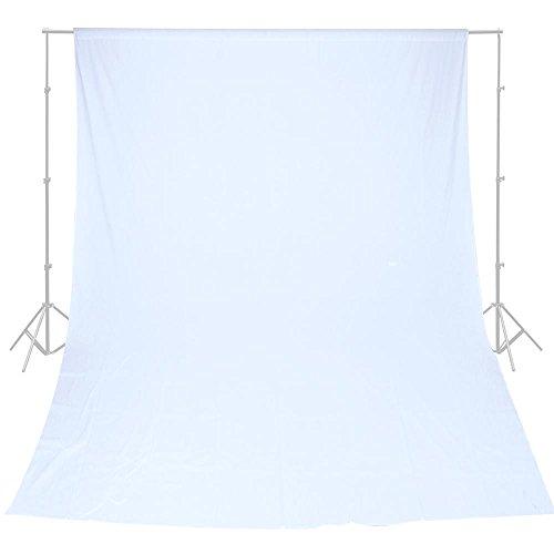 10x20' Muslin Background (Backdrop White Muslin Background Photo Video Studio Portrait 100% Cotton 10x20')