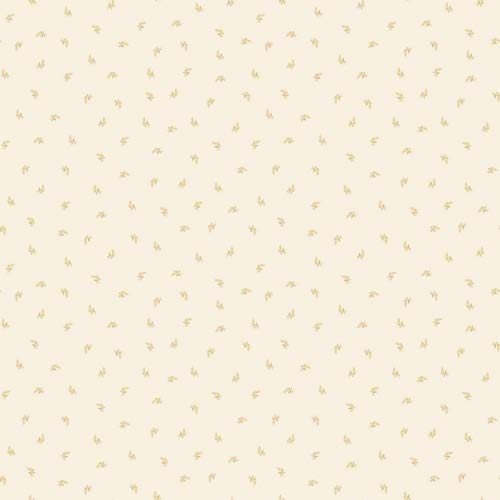 (Norwall Wallcoverings Lilac Small Leaf Ochre and Cream Wallpaper)