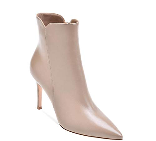 Khaki Shiney Heels Ladies Pointed Party Blue Holiday White khaki Gray Black Women's Ankle Zipper Brown Stiletto Boots Boots FqFOwx8H
