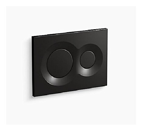 Kohler 75890-7 Lynk Flush Actuator Plate for 2''x 4'' in-Wall Tank and Carrier System Black