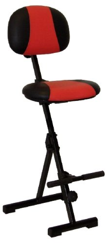 Stehhilfe Klappbar.Stehhilfe Mit Aufstiegshilfe Sitz Und Rücken Kunstleder Rot Schwarz Zusammenklappbar