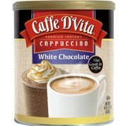 Caffe D'Vita White Chocolate Cappuccino Mix, 16-Ounce Canisters (Pack of 6)