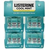 Listerine Pocketpacks 288 Breath Strips 12-24-Strip Pack Listerine Cool Mint Pocketpacks Breath Strips Kills Bad Breath Germs, Family Size Value Pack Best Seller