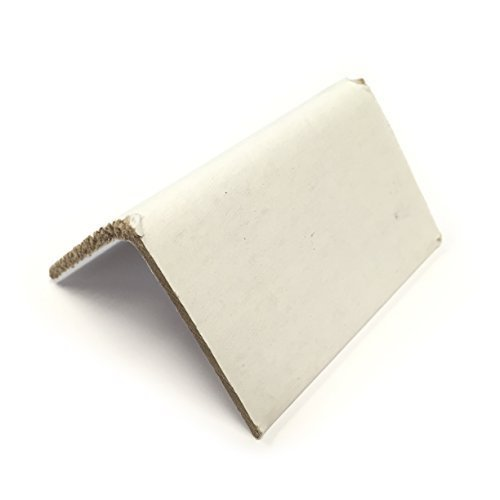 Cardboard Edge Corner Protectors 2'' x 2'' x 3'' White - Case of 200