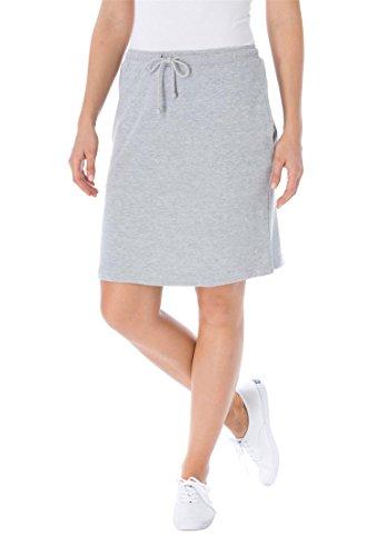 Women's Plus Size Skort In Soft Sport Knit With Custom-Fit Waist Heather