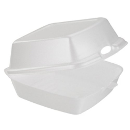 Dart 60HT1 Carryout Food Containers, Foam, 1-Comp, 5 7/8 x 6 x 3, White (Pack of ()