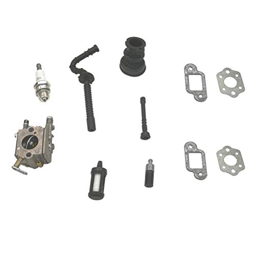 Shioshen Kit de carburador consumo arranque aceite combustible manguera filtro Junta para STIHL 021 023 025 MS210 MS230 MS250...
