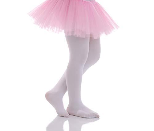 72b86595df888 Girls Tights - Kids Opaque Microfiber Pantyhose Solid Footed Leggings - for  Dance School Ballet Uniform