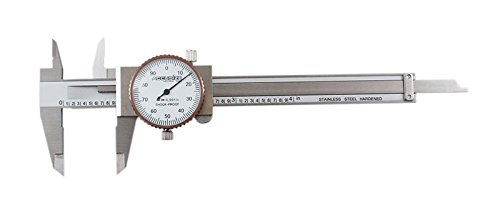 (Accusize Industrial Tools 0-4 inch by 0.001 inch Precision Dial Caliper, Stainless Steel, in Fitted Box, P920-S214)