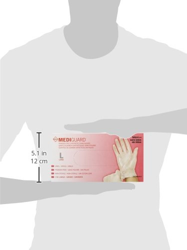 Small 150 Count 6MSV511 Medline Mediguard Powder-Free Vinyl