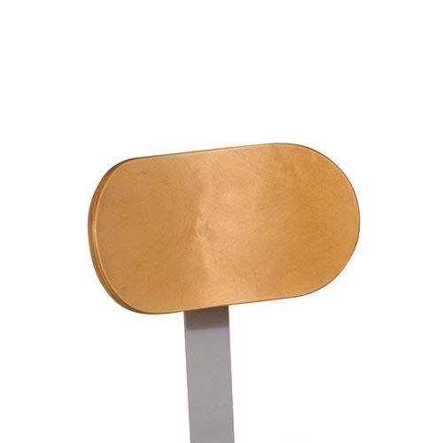 "Backrest for Adjustable Height Lab Stools, 6.25""H x 11.5""W, Gray Frame Color"