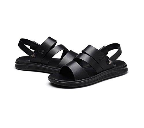 Zapatillas Verano Hombres Sandalias Antideslizantes Para Chanclas Casuales De Black Playa xUvnFYv