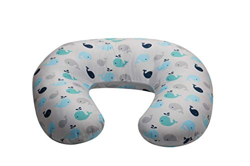 NurSit Basic Nursing Pillow and Positioner, Whales Print