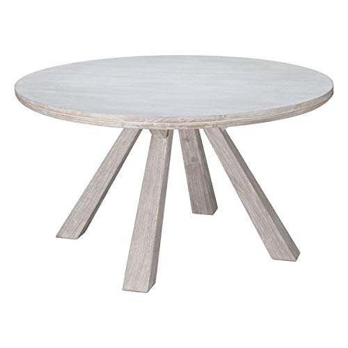 Zuo Modern 100743 Beaumont Round Dining Table, Sun Drenched Acacia (Bleached Furniture Online Wood)