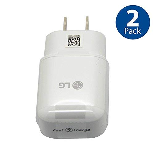 Original LG QuickCharge 3.0 Wall Charging Fast Adapter for G5 G6 NEXUS 5X 6P V10 V20 V30 - 2 PACK - Bulk Packaging - Lg Original Travel Charger