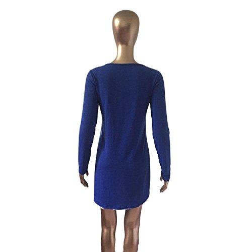 ... Yogogo Frauen-Mode-Kleid-runde Kragen Weihnachten Elk Langarm Casual  Dress (S ...