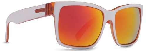 (VonZipper Elmore Frostbyte Men's Sunglasses, Whiteout Orange/Lunar Chrome)