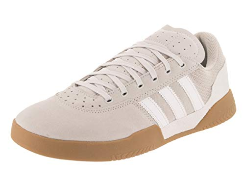 adidas City Cup Skateboarding Athletic Skate Shoe (8 D(M) US, Crystal White/Chalk Pearl/Gum)
