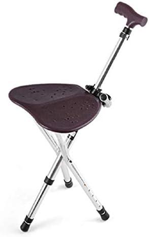 HUYYA 松葉杖シート、アルミ合金調節可能な高さ3フィート滑り止め折りたたみ式耐久性のあるステッキ