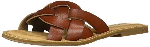 Rock & Candy Women's BERNYCE Flat Sandal, Cognac, 8.5 Medium US ()