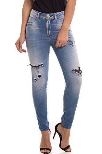 Calça Jeans Denuncia Mid Rise Skinny Azul 40
