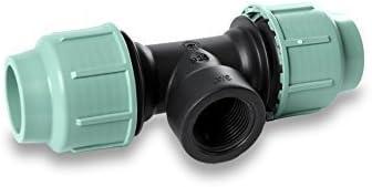 20 mm x 1//2 Innengewinde x 20 mmn PE-Rohr T-St/ück PP Verschraubung Schl/äuche 20,25,32,40,50,63 mm Innengewinde verschiedene Gr/ö/ßen