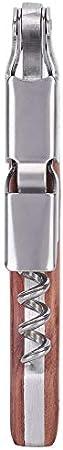 Abrebotellas Abridor de cerveza multifunción Mini sacacorchos de vino con mango de madera de cuchillo