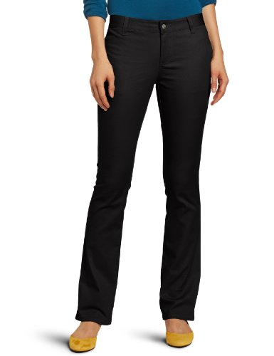 Lee Uniforms Juniors Original Straight Leg Pant, Black, 1