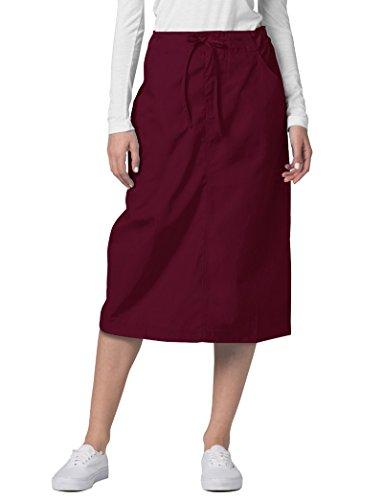 Dottoresse Donna Per Infermiere Estetiste Uniformi burgundy Gonna Adar Rosso Camice Con Da nqYwWn8zt