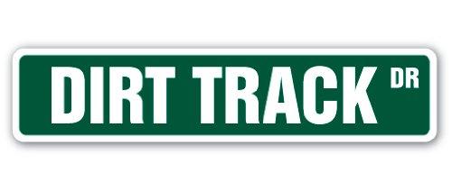 MightySkins Dirt Track Street Sign, 4 x 18 Inch