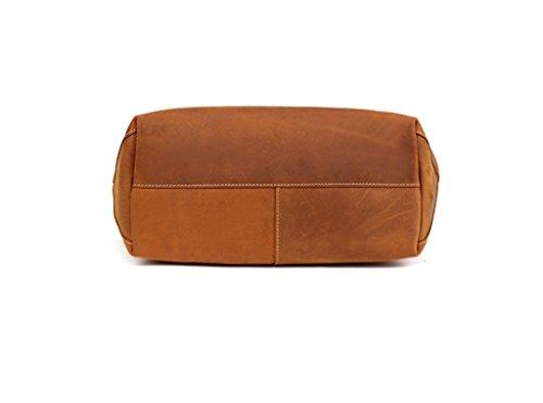 a Mano Genuina para Gran 1 Ideal trabajo viaje hombro RFID de Genuino Cuero Capacidad y bolsos Sucastle Mujer Bloqueo Hecho Oqw7vZF