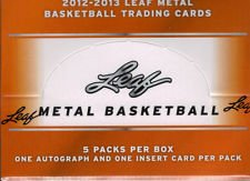 2012/13 Leaf Metal Basketball Hobby Factory Sealed Box - 5 Autographs Per Box - Possible Ewing, - Hobby Pack Basketball
