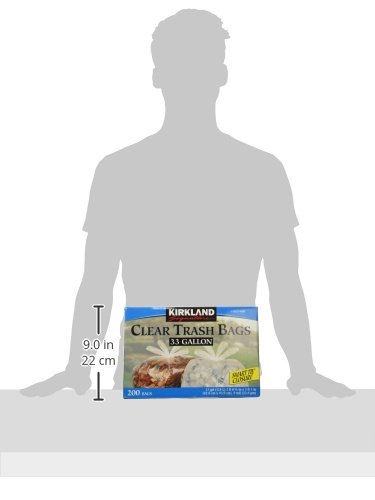 Large Product Image of Kirkland Signature Clear Trash Bags with Smart Closure, 33 Gallon, 200 Count