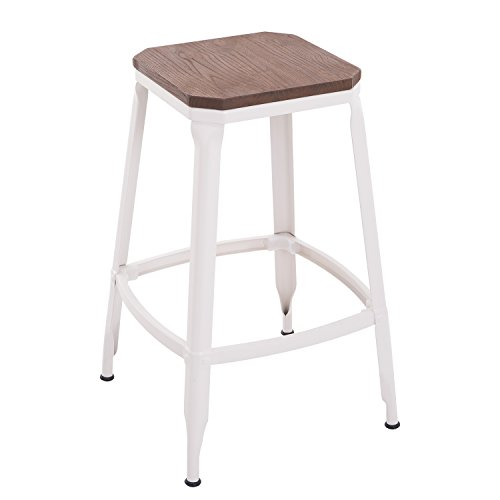 HomCom Counter Height Industrial Barstool product image