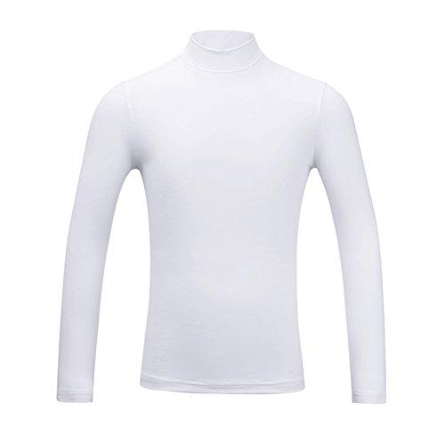 Kayiyasu インナーシャツ キッズ ゴルフウェア ジュニア ゴルフシャツ 女の子 UVカット 薄手 夏物用 薄物 長袖 下着 日焼け止め 021-xsty-yf-137(L(140cm) ホワイト)