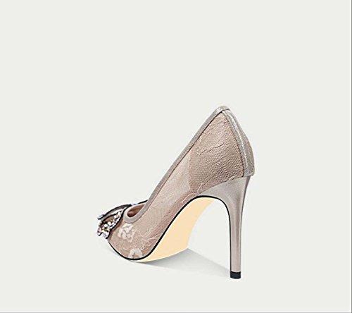 c2da7f9f Exclusivo para la venta Modo Respira De Encaje Malla Lámina Zapatos ...
