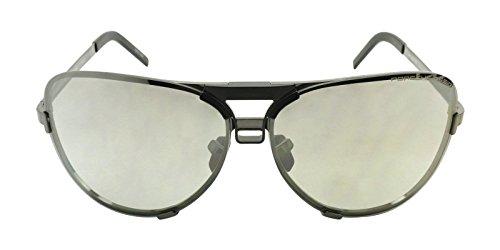 Valentino Gray Lens - Porsche Design Men's Titanium Sunglasses P8678 A Dark Gun With 2 Set of Lenses