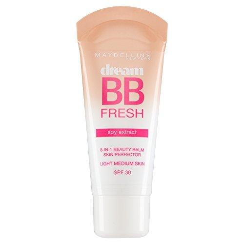 2 x Maybelline Dream BB Fresh Soy Extract 8in1 Beauty Balm SPF30 - Light Medium Maybelline New York