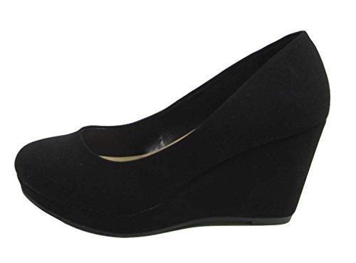 City Classified Womens Mark Thomas Mary Jane Strap Comfortable Office Dress Platform Wedge Heel MVE Shoes , mve shoes thomas black size 8