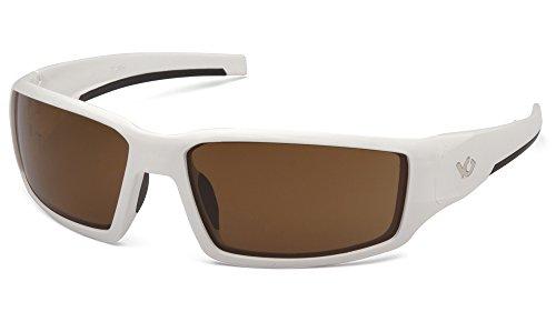 Venture Gear Pagosa Safety Sunglasses, White, Bronze Anti-Fog Lens