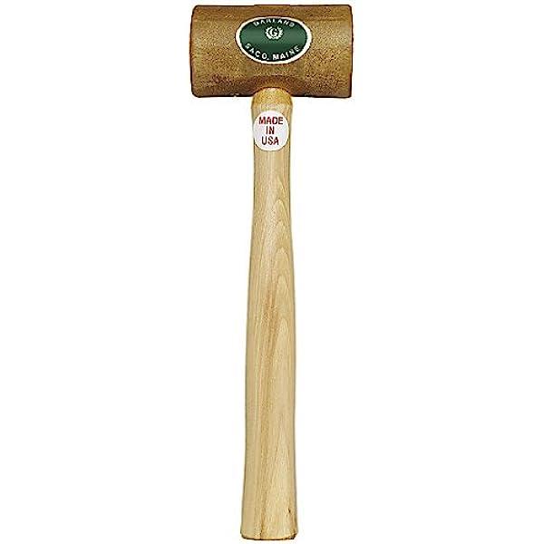 "Soft Rawhide Mallet 1-1//2/"" Diameter Head Natural Rawhide Non-Marring #3 Hammer"