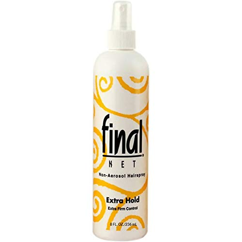 Final Net Non-Aerosol Hairspray, Extra Hold, 8 oz (Pack of 4)