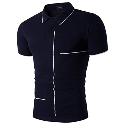 Giulot Men's Classic Fit Dress Shirt Polo Golf Shirt Big and Tall Advantage Performance Regular-fit Jersey Tee Dark Blue - Sundial Golf