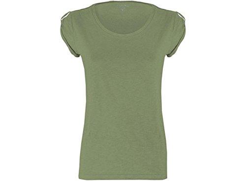 ATELIER DEL RICAMO - Camisa deportiva - para mujer verde militar