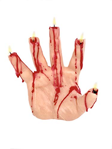 Creepy Candles Bleeding Hand Candle