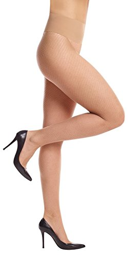 Commando Women's Perfect Fishnet Tights HN039 Buff Medium
