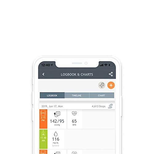 Digital Blood Pressure Monitor Upper Arm by Dario. Large Blood Pressure Cuff: 9.4-17 inches. Bluetooth Connection to Dario Mobile App to Track and ...